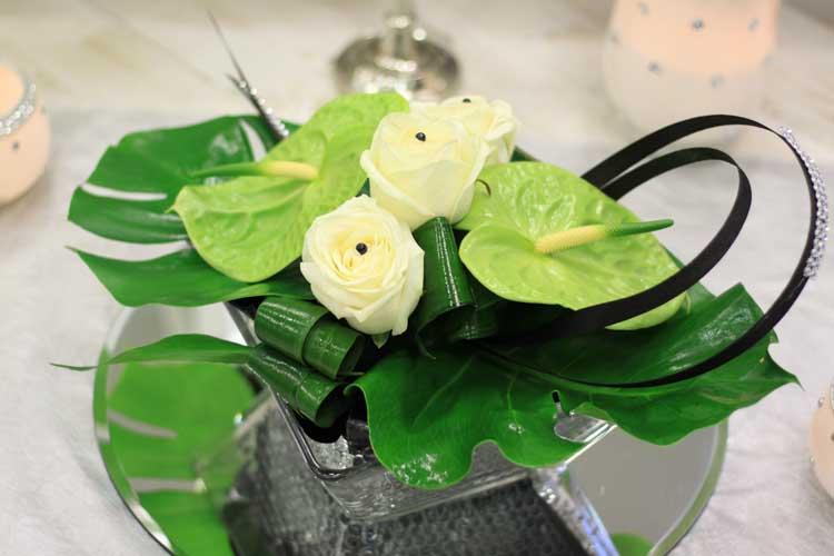 r ussir la d coration florale des tables aloe fleurs. Black Bedroom Furniture Sets. Home Design Ideas
