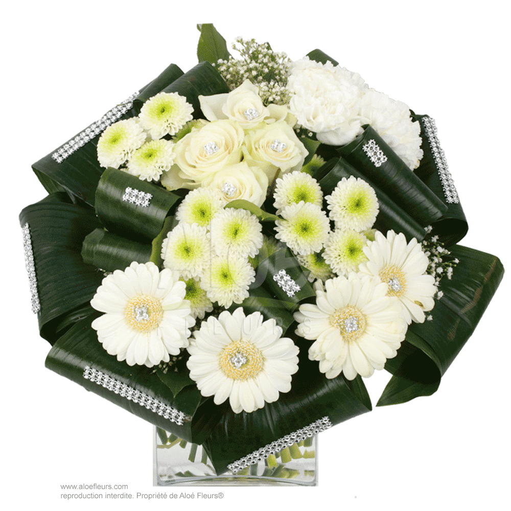 Bouquet-Rond-Blanc-&-strass